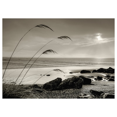 KATEBO Billede, stille strand, 70x50 cm