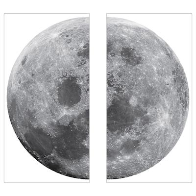 KINNARED Dekoration, klistermærke, Måne