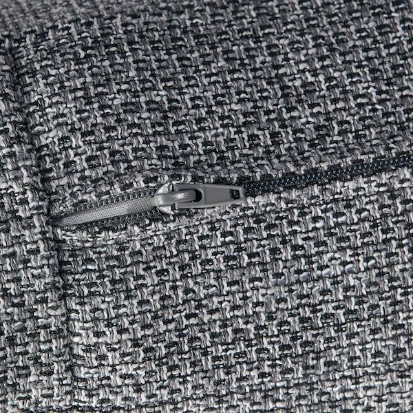 KIVIK Betræk taburet med opbevaring, Lejde grå/sort