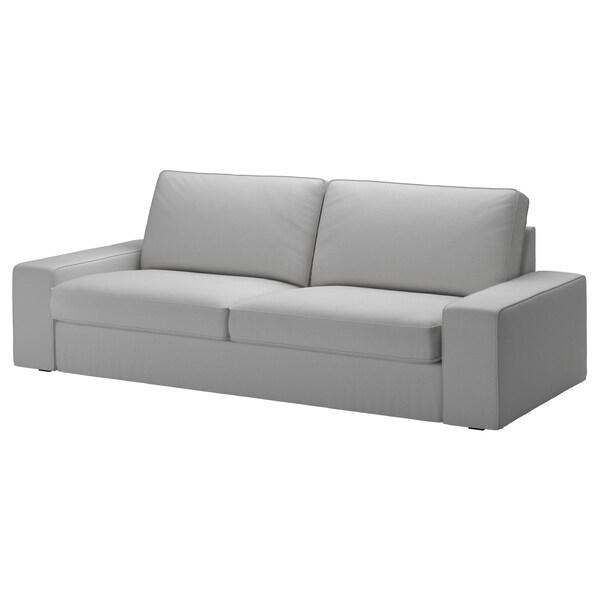 KIVIK Betræk til 3-pers. sofa, Orrsta lysegrå