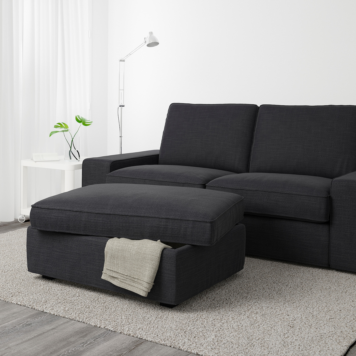 Picture of: Kivik Puf Med Opbevaring Hillared Antracit Ikea