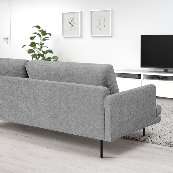 KLINTORP 3-pers. sofa, grå