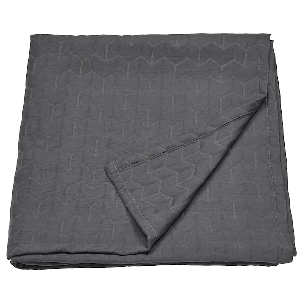 KÖLAX Sengetæppe, grå, 150x250 cm