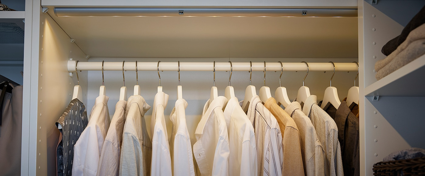 KOMPLEMENT Garderobestang, hvid, 100 cm