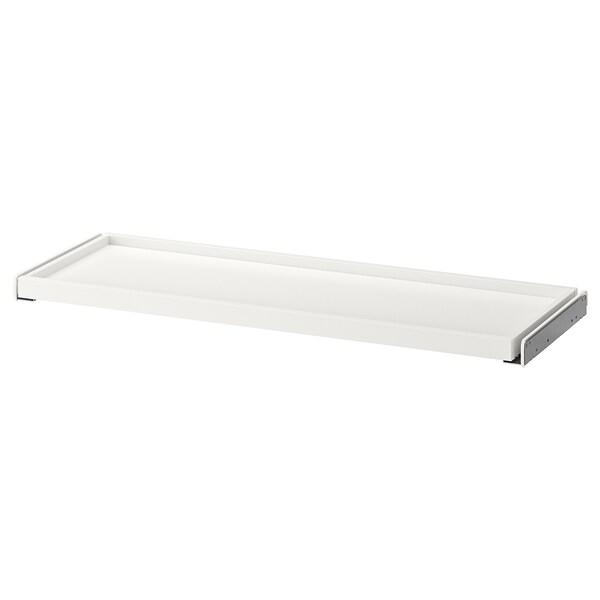 KOMPLEMENT Udtræksbakke, hvid, 100x35 cm