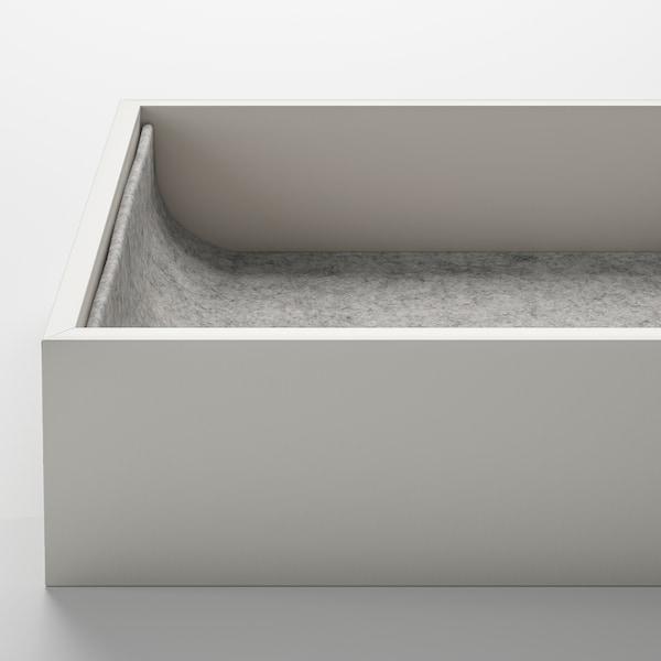 KOMPLEMENT Udtrækshylde med indsats, egetræsmønster med hvid bejdse, 50x58 cm