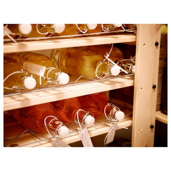 KORKEN Flaske med prop, klart glas, 1 l