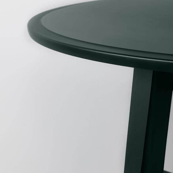 KRAGSTA Sofabord, mørk blågrøn, 90 cm