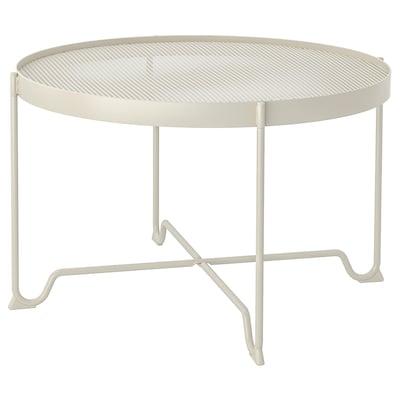 KROKHOLMEN Sofabord, ude, beige, 73 cm