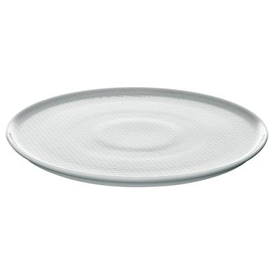 KRUSTAD Tallerken, lysegrå, 25 cm