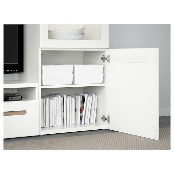 KUGGIS Boks med låg, hvid, 26x35x8 cm