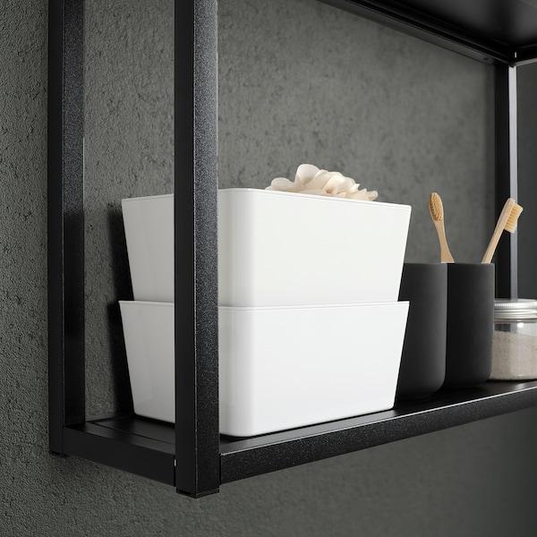 KUGGIS Boks med låg, hvid, 13x18x8 cm