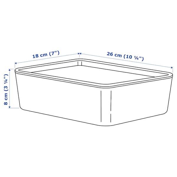 KUGGIS Opbevaringsboks med låg, turkis, 18x26x8 cm