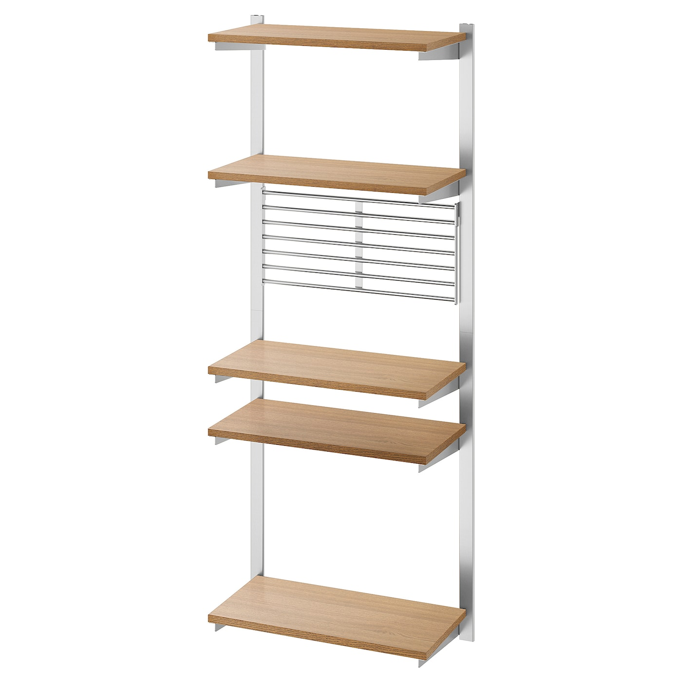 Picture of: Kungsfors Stang Med Hylde Vaeggitter Rustfrit Stal Ask Ikea