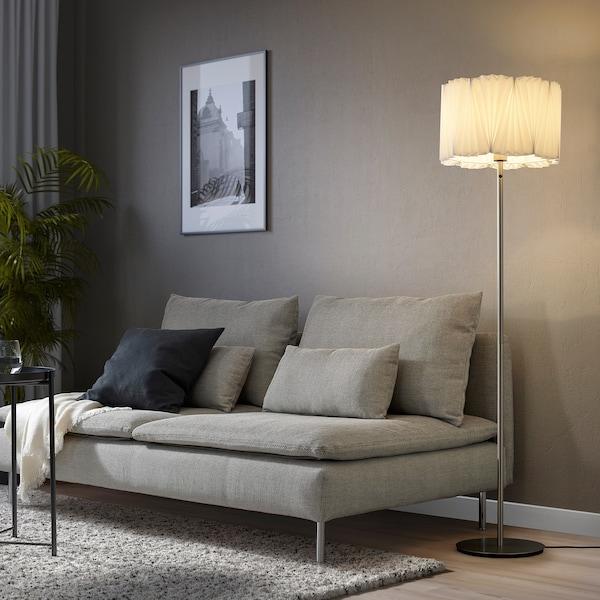 KUNGSHULT Lampeskærm, plisseret hvid, 33 cm
