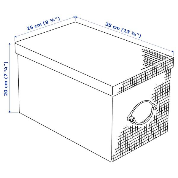 KVARNVIK Kasse med låg, grå, 25x35x20 cm