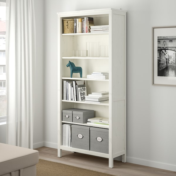 KVARNVIK Kasse med låg, grå, 18x25x15 cm