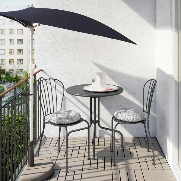 LÄCKÖ Bord + 2 stole, ude, grå