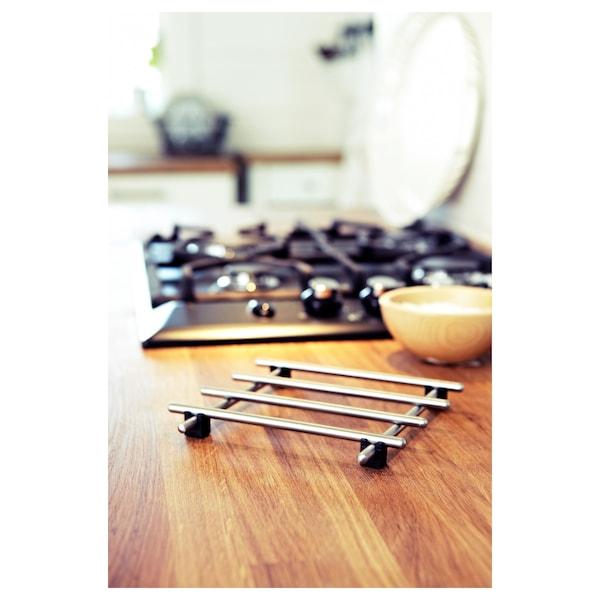 LÄMPLIG Bordskåner, rustfrit stål, 18x18 cm