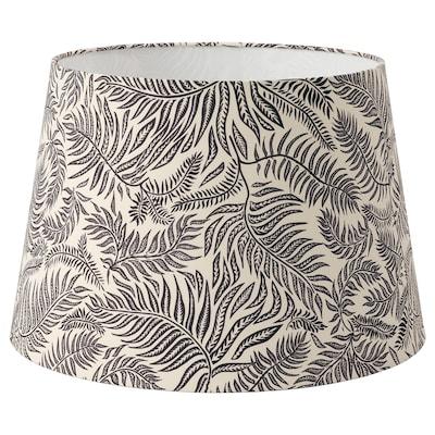 LÅGVIND Lampeskærm, sort blad mønster/beige, 44 cm