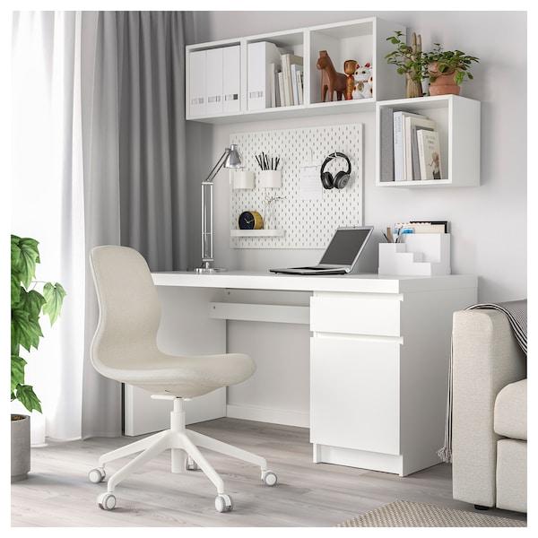 LÅNGFJÄLL Kontorstol, Gunnared beige/hvid