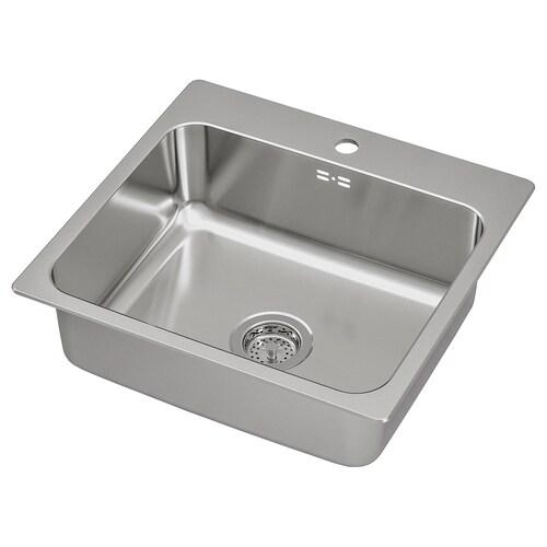 IKEA LÅNGUDDEN Indbygningsvask, enkelt
