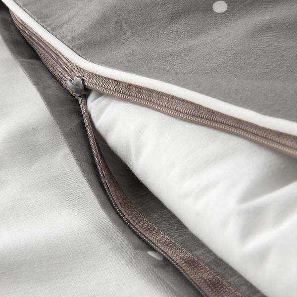 LENAST Dyne-/pudebetræk t tremmeseng, prikket mønster, 110x125/35x55 cm
