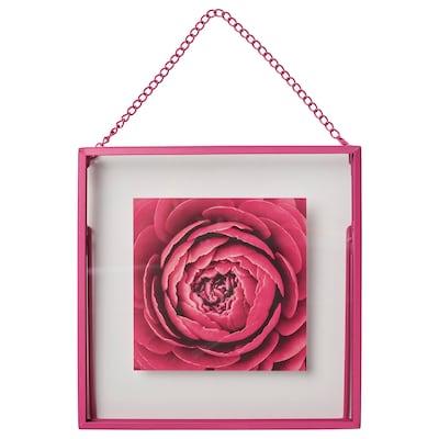 LERBODA Ramme, pink, 16x16 cm