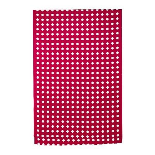 LIALOTTA Voksdug , rød/hvid Bredde: 145 cm Mønsterhøjde: 16 cm Ydre: 1.45 m²