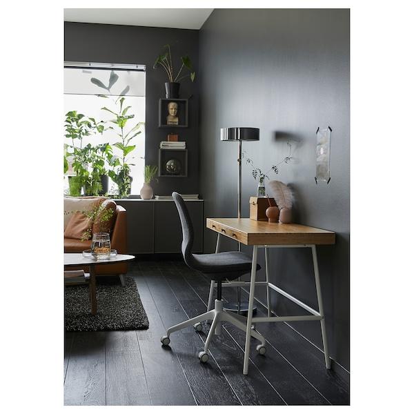 LILLÅSEN skrivebord bambus 102 cm 49 cm 74 cm 23 cm 32 cm 6 cm