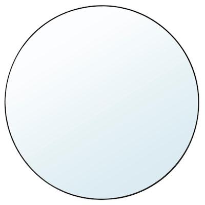 LINDBYN Spejl, sort, 110 cm