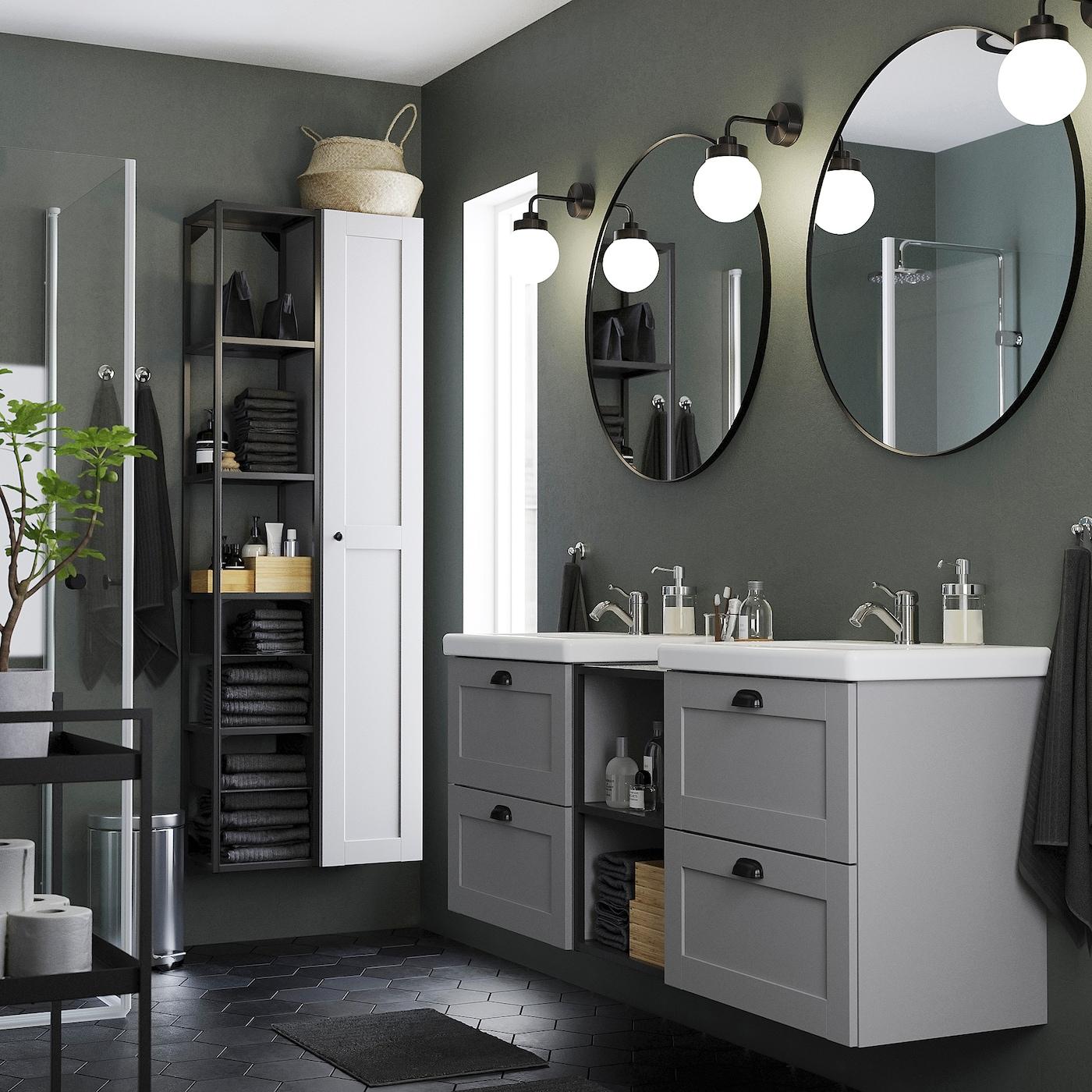 Picture of: Lindbyn Spejl Sort 80 Cm Ikea
