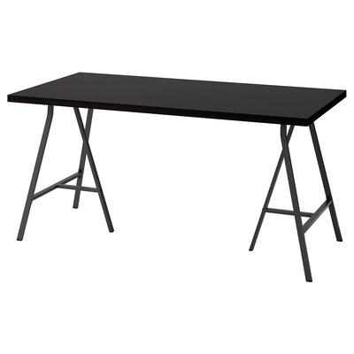 LINNMON / LERBERG bord sortbrun/grå 150 cm 75 cm 74 cm 50 kg