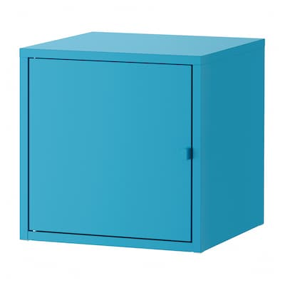 LIXHULT Skab, metal/blå, 35x35 cm