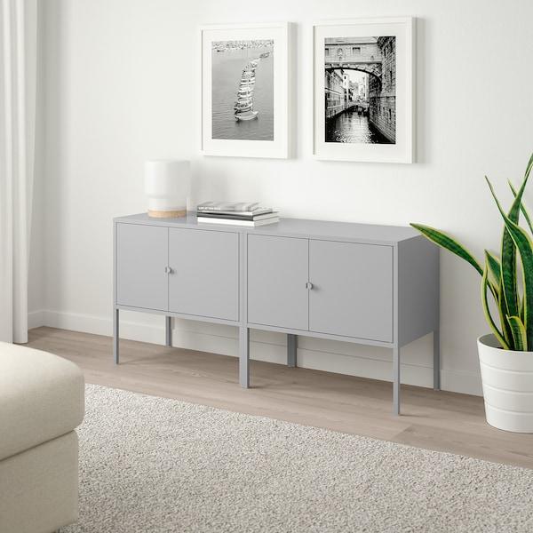LIXHULT Skabskombination, grå, 120x35x57 cm
