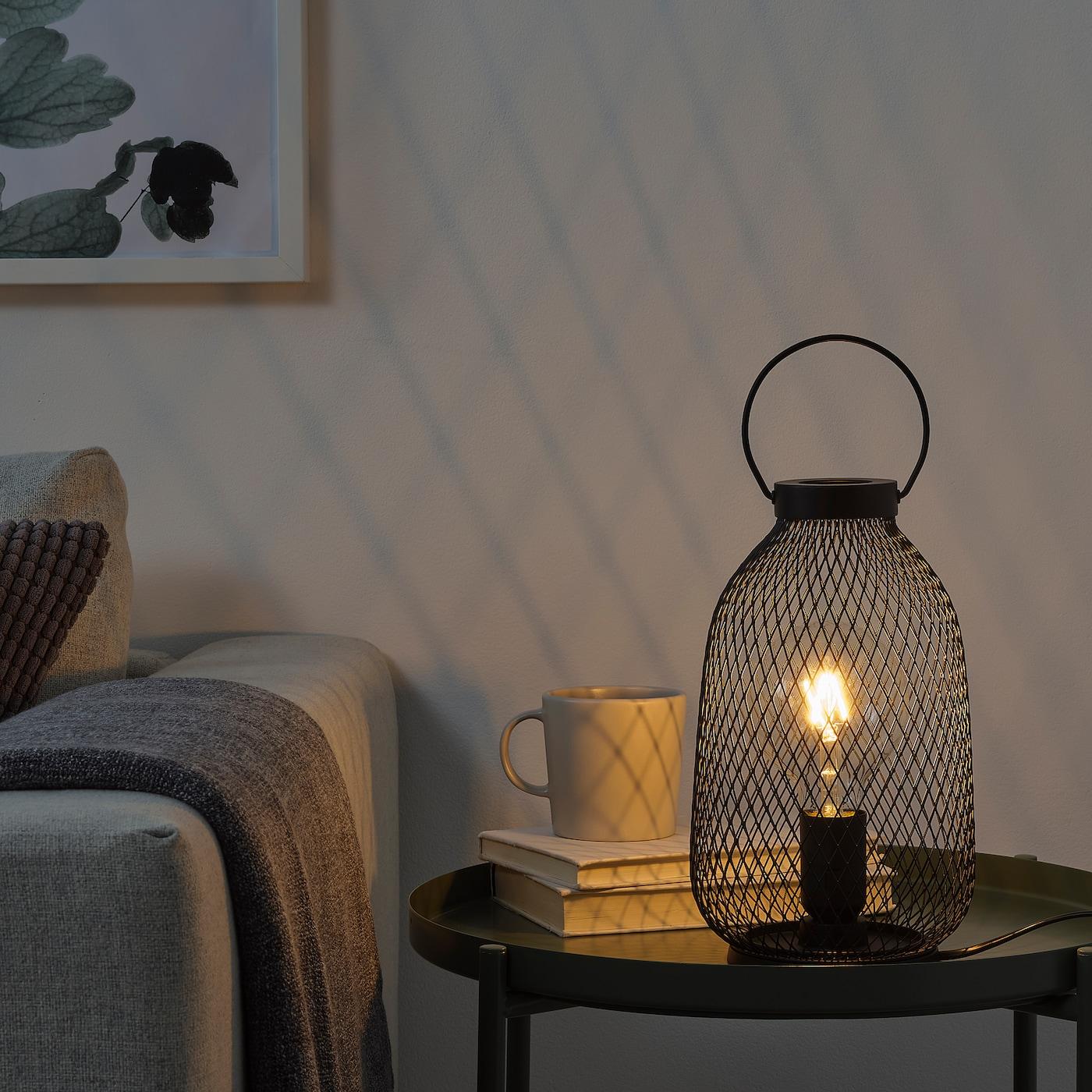 LUFTMASSA Bordlampe sort metal 35 cm