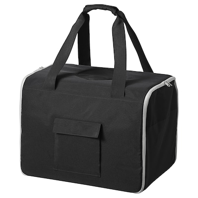 LURVIG Rejsetaske til kæledyr, sort/grå