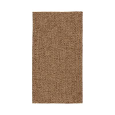 LYDERSHOLM Tæppe, fladvævet, inde/ude, mellembrun, 80x150 cm