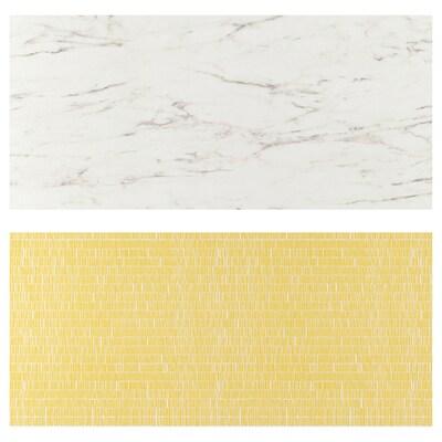 LYSEKIL vægplade dobbeltsidet hvidt marmormønster/mønstret 119.6 cm 55 cm 0.2 cm