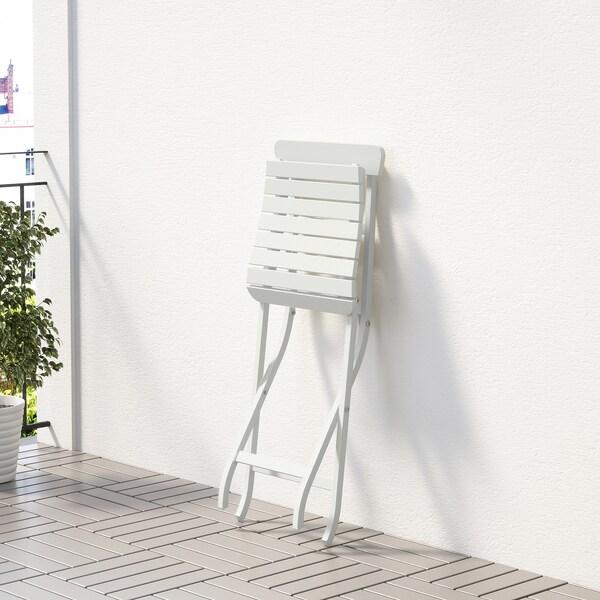 MÄLARÖ Stol, ude, kan klappes sammen hvid