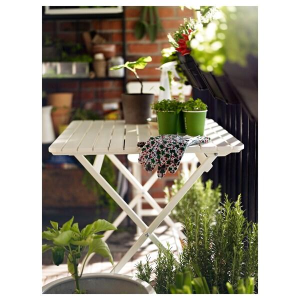 MÄLARÖ bord, ude kan klappes sammen hvid 80 cm 62 cm 74 cm