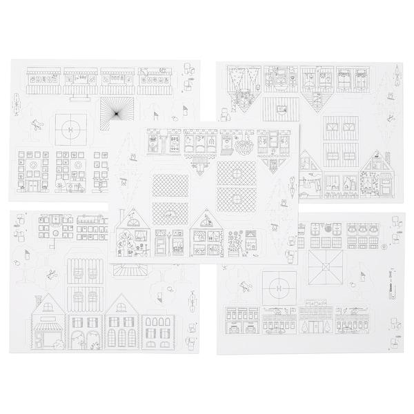 MÅLA Skabeloner til by af karton, 10 del