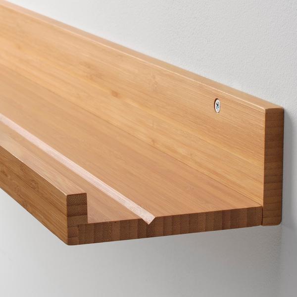 MÅLERÅS Billedhylde, bambus, 75 cm