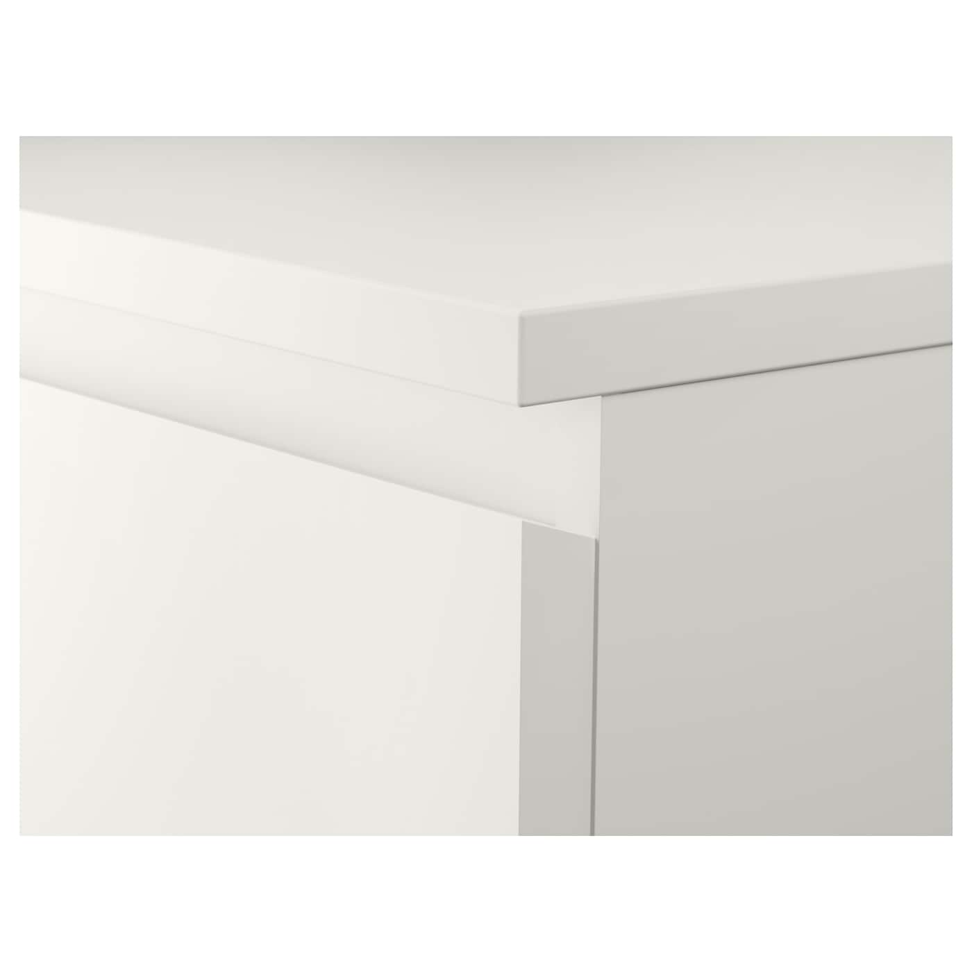 Malm Kommode 2 Skuffer Hvid 40x55 Cm Ikea