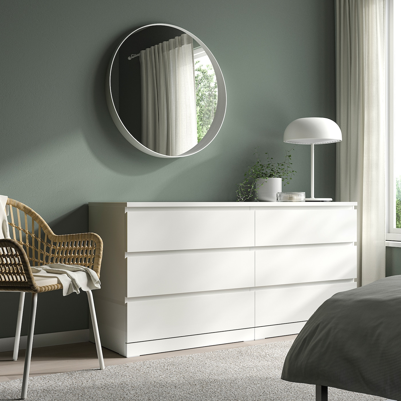 Picture of: Malm Kommode 6 Skuffer Hvid 160×78 Cm Ikea