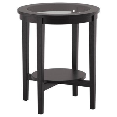 MALMSTA Sidebord, sortbrun, 54 cm