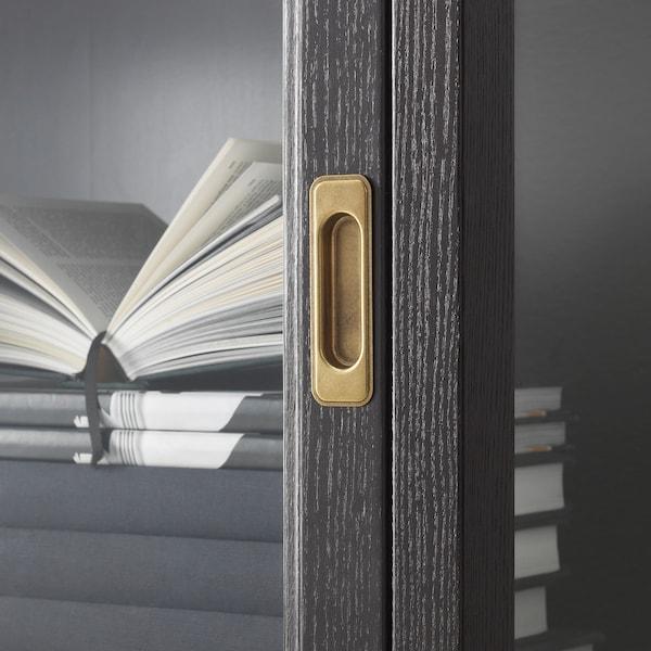 MALSJÖ Vitrineskab, sort bejdse, 103x48x141 cm