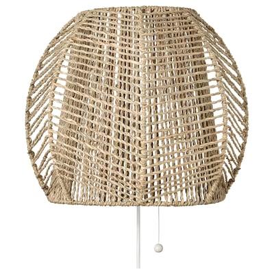 MÅNALG Væglampe, halvgræs/håndlavet