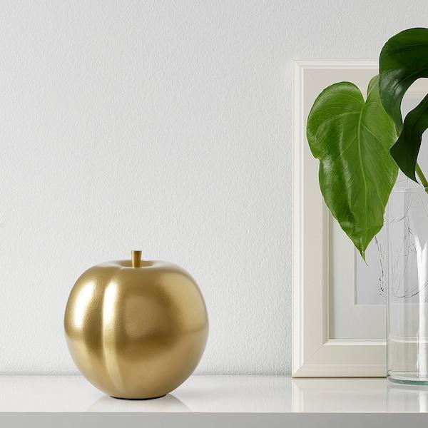 MARKNIVÅ Dekoration, blomme messingfarvet, 12 cm