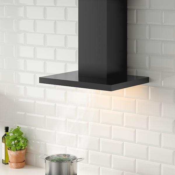 MATÄLSKARE Vægmonteret emhætte, sort, 60 cm